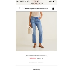 Jeans droit Mango  pas cher