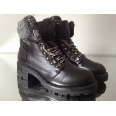 Bottines & low boots motards Atmosphere  pas cher