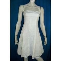 Robe mi-longue Bleu 123  pas cher