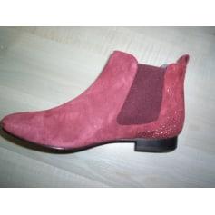 Bottines & low boots plates Galeries Lafayette  pas cher
