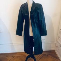 Manteau en cuir non signé  pas cher