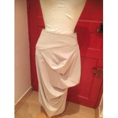 Jupe mi-longue Bleu Blanc Rouge  pas cher