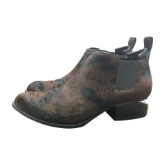 Bottines & low boots plates Alexander Wang  pas cher