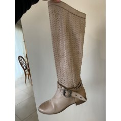Bottes plates Made In Italie  pas cher