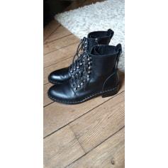 Bottines & low boots motards Zara  pas cher