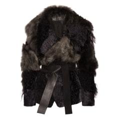 Manteau en fourrure Donna Karan  pas cher