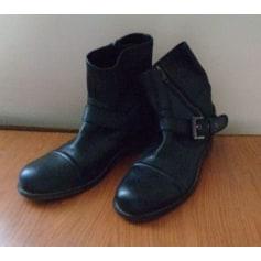 Bottines & low boots motards Levi's  pas cher