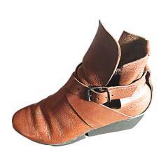 Bottines & low boots à compensés trippen  pas cher