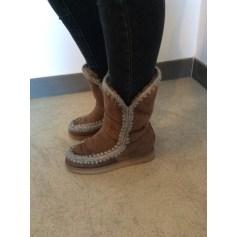Bottines & low boots à compensés Mou  pas cher