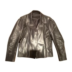 Leather Zipped Jacket Balenciaga