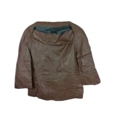 Veste en cuir Costume National  pas cher
