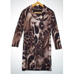 Robe mi-longue sépia Collection  pas cher