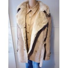 Manteau en cuir Etam  pas cher