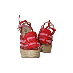 Sandales compensées YVES SAINT LAURENT Rouge, bordeaux