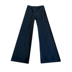 Pantalon évasé ADOLFO DOMINGUEZ Bleu, bleu marine, bleu turquoise