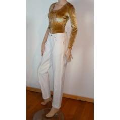 Jeans droit TEDDY SMITH Blanc, blanc cassé, écru