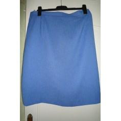 Jupe mi-longue MARCELLE GRIFFON Bleu, bleu marine, bleu turquoise