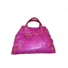 Leather Handbag BALENCIAGA Pink, fuchsia, light pink