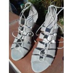 Heeled Sandals COMPTOIR DES COTONNIERS Silver