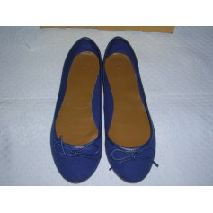 Ballet Flats MANGO Blue, navy, turquoise