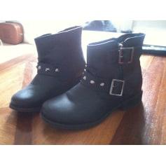 Bottines & low boots plates NEW LOOK Noir