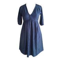 Midi-Kleid SANDRO Blau, marineblau, türkisblau