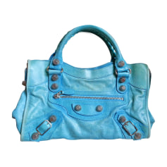 Leather Handbag BALENCIAGA Blue, navy, turquoise