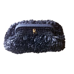 Sac pochette en tissu ROBERTA DI CAMERINO Noir