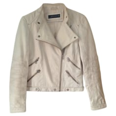 Leather Jacket ZARA Beige, camel
