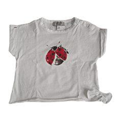 Top, t-shirt ARMANI JUNIOR Bianco, bianco sporco, ecru
