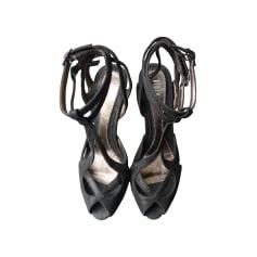Sandales à talons BLOCH Noir