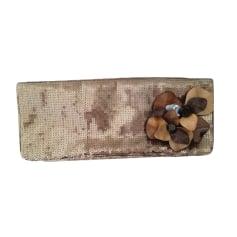 Sac pochette en tissu PATRIZIA PEPE Doré, bronze, cuivre