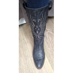 Cowboy Boots MINELLI bleu pétrole
