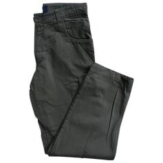 Pantalon droit QUIKSILVER Beige, camel