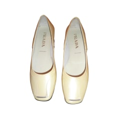 Ballet Flats PRADA White, off-white, ecru