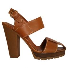 Sandales à talons YVES SAINT LAURENT Beige, camel