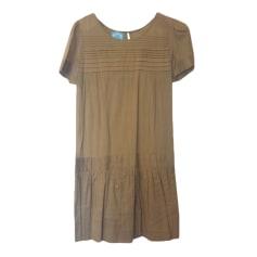 Robe mi-longue APRIL MAY couleur brique