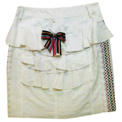 Jupe mi-longue ANNA SUI Blanc, blanc cassé, écru