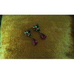 Boucles d'oreille MICHAL NEGRIN Rose, fuschia, vieux rose