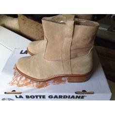 Santiags, bottines, low boots cowboy LA BOTTE GARDIANE Beige, camel