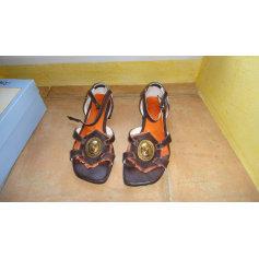 Sandales plates  REGARD Marron