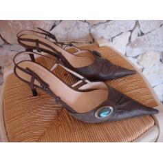 Sandales à talons  GAIA D'ESTE Marron