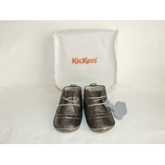 Lace Up Shoes KICKERS Silver