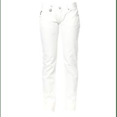 Jeans slim 55DSL Blanc, blanc cassé, écru