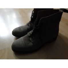 Bottines & low boots plates SWILDENS Gris, anthracite