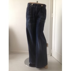 Jeans large, boyfriend PATRIZIA PEPE Bleu, bleu marine, bleu turquoise