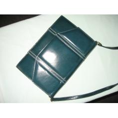 Sac pochette en cuir CHARLES JOURDAN Bleu, bleu marine, bleu turquoise