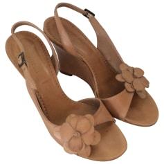 Sandales compensées MINELLI Beige, camel