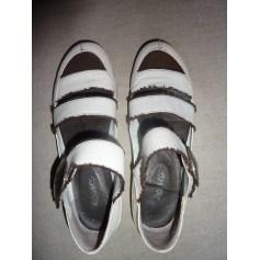 Sandales plates  REGARD Blanc, blanc cassé, écru