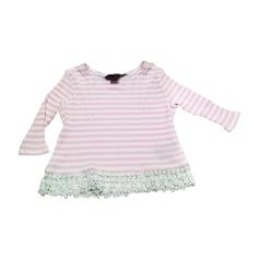 Top, T-shirt RALPH LAUREN RIGHE ROSA E BIANCHE